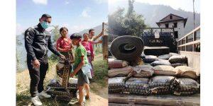 तेमाल चुखाका ७० परिवारलाई राहत वितरण
