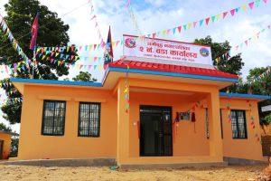 नमोबुद्ध–२ मा बन्यो वडा कार्यालय र स्वास्थ्य केन्द्र भवन